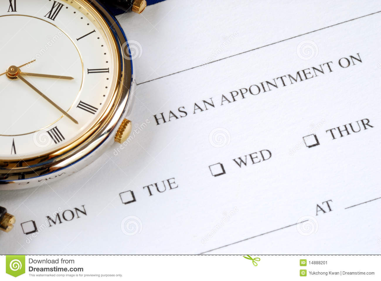 writing appointment