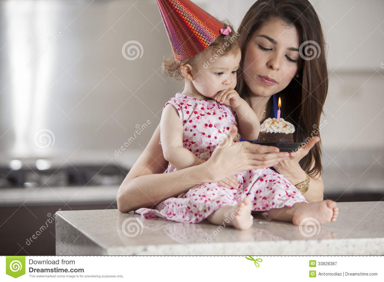 Excellent Make A Birthday Wish Stock Image Image Of Eating Girl 33828387 Personalised Birthday Cards Veneteletsinfo