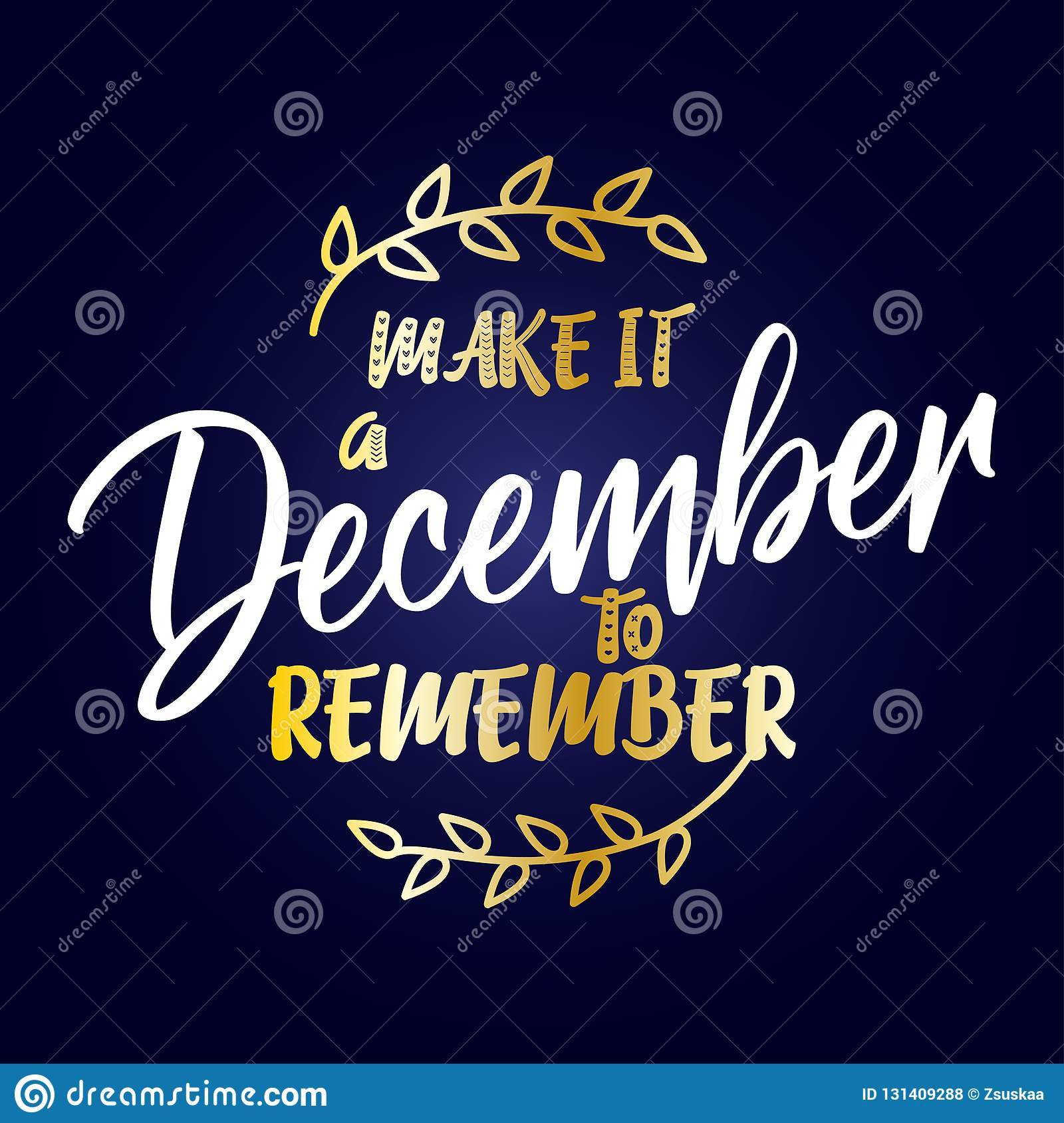 make it a to remember calligraphy phrase for christmas