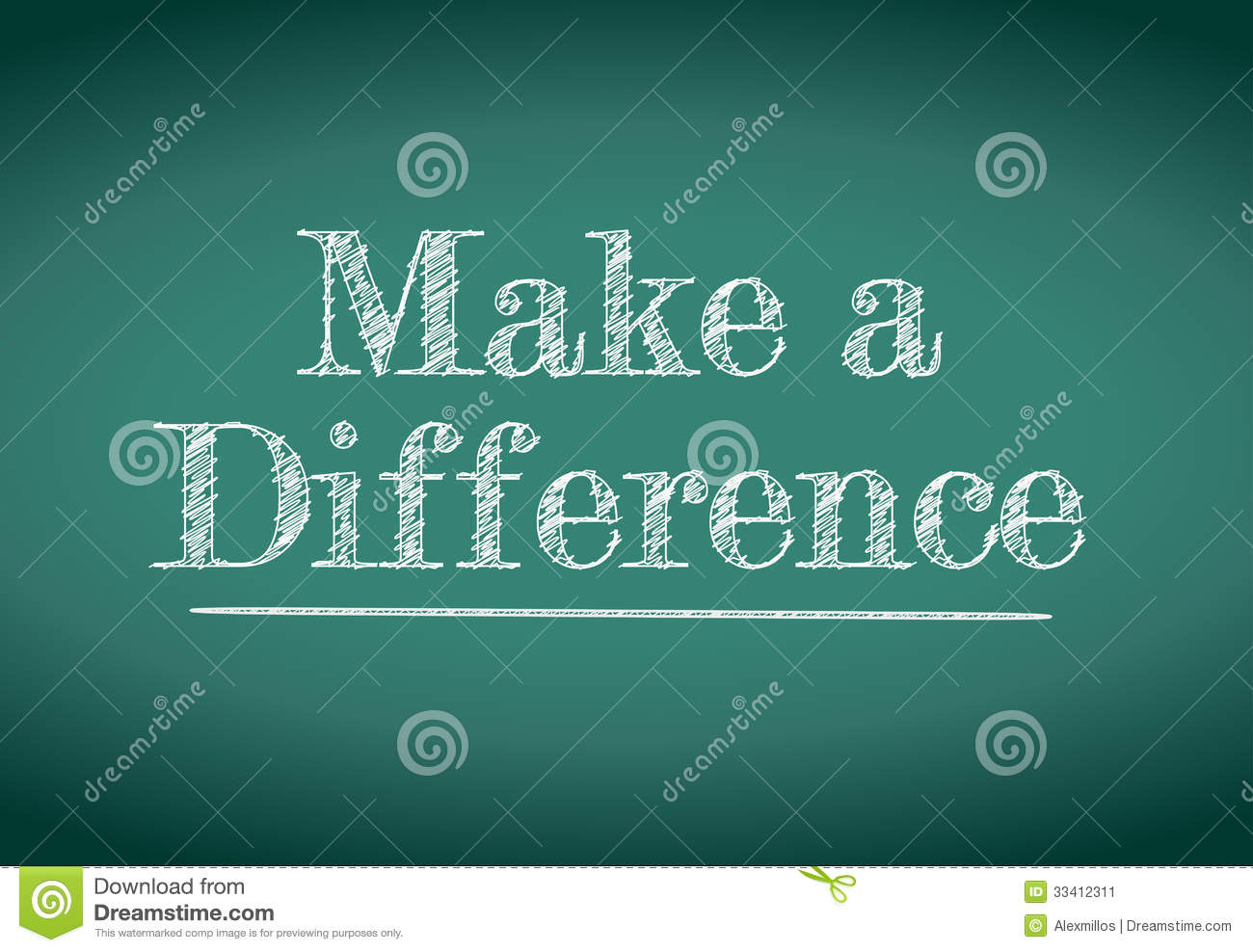 Make A Difference Message Stock Image Image 33412311