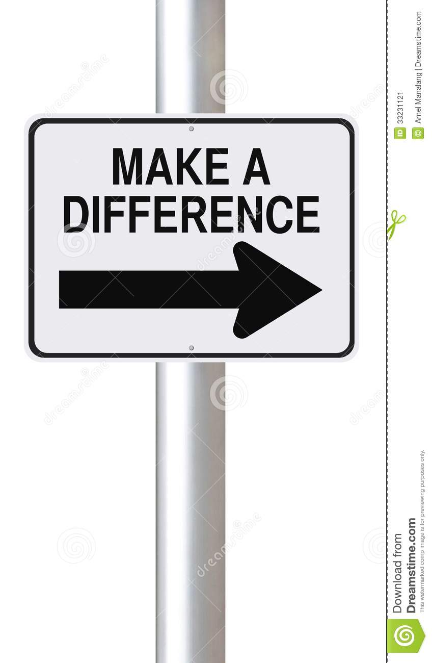 Make A Difference Stock Image Image 33231121