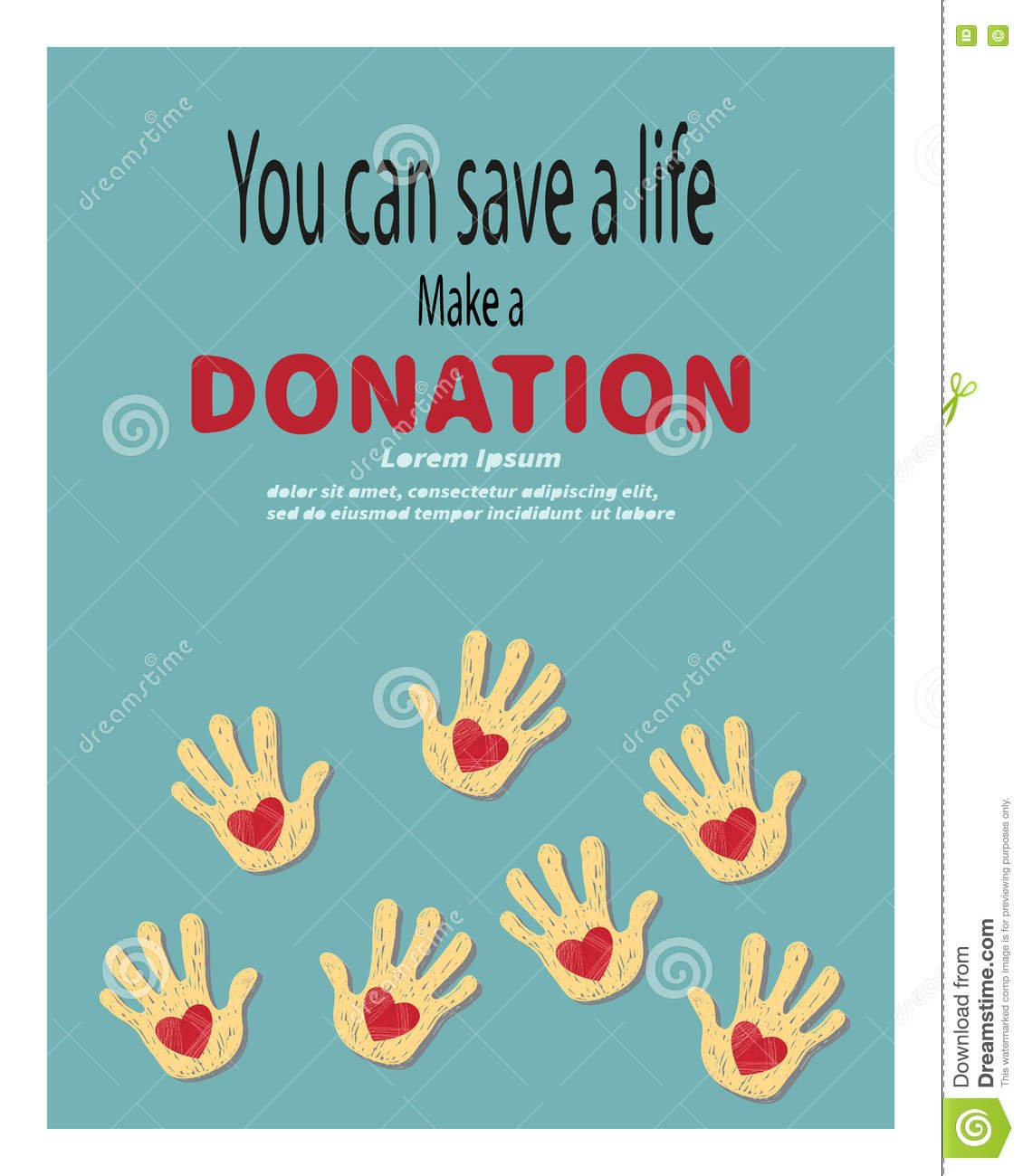 Make a poster design - Make A Donation Vector Illustration Charity And Donation Poster Stock Vector Image 73228120