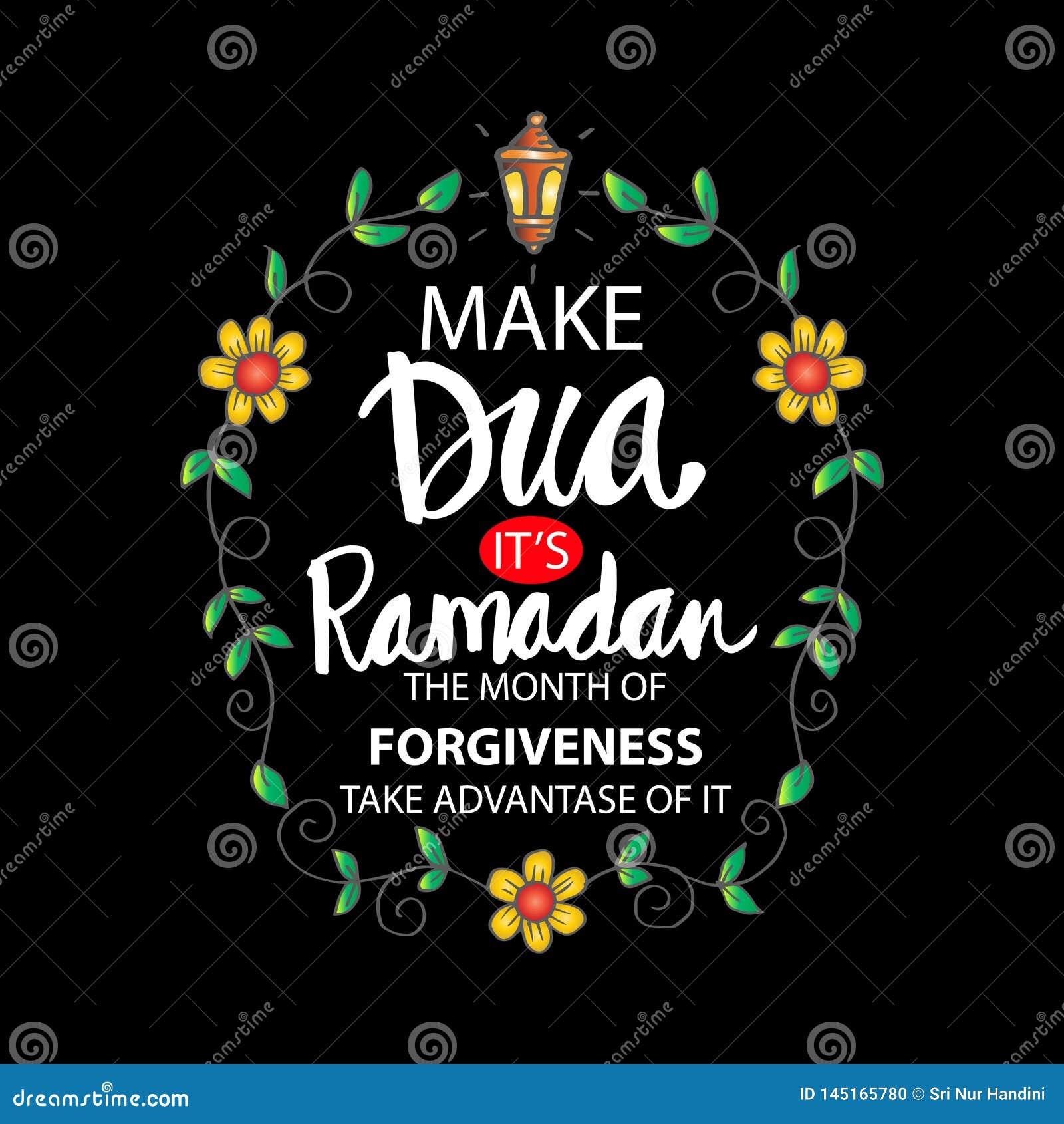 Make Dua – Its Ramadan The Month Of Forgiveness  Stock