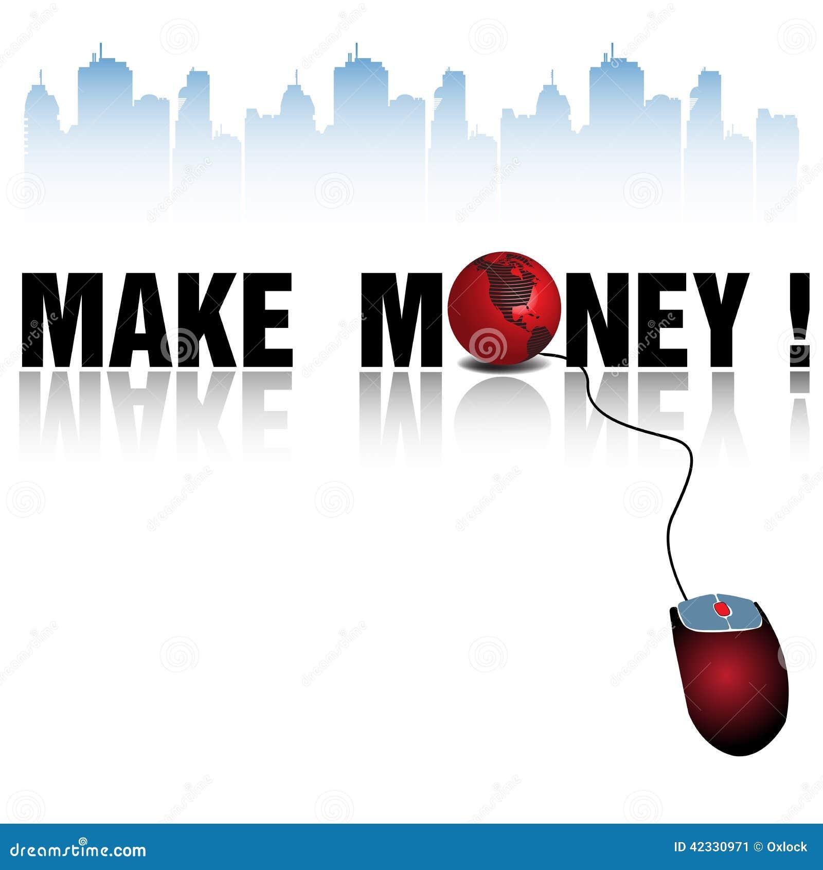 make money stock vector illustration of market entrepreneur 42330971