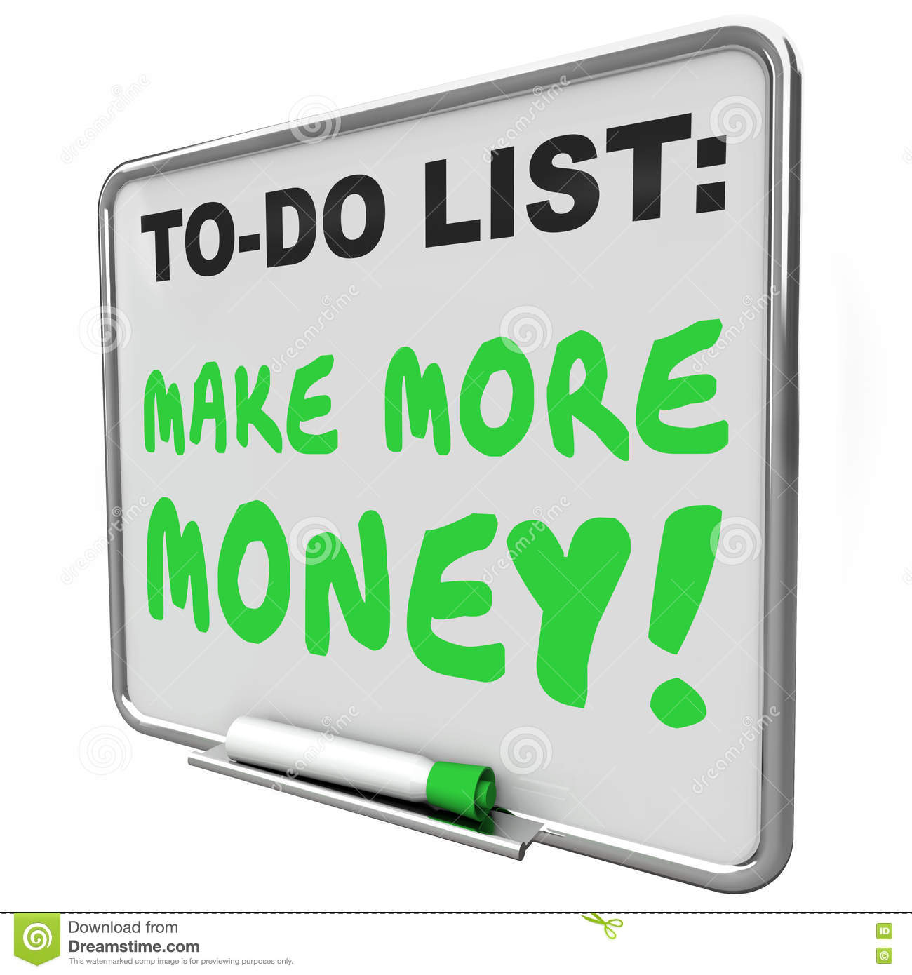 Make More Money Increase Income Earnings To Do List Stock