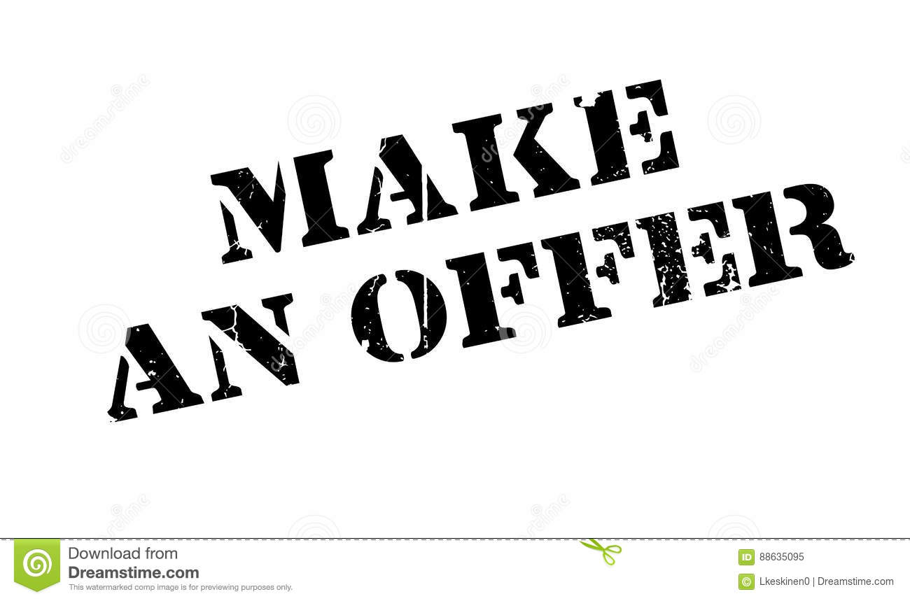 Make An Offer rubber stamp stock vector. Image of generate ... - photo#30