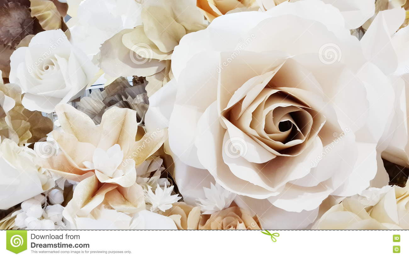 Make A Paper Rose From Paper Stock Image Image Of Invention