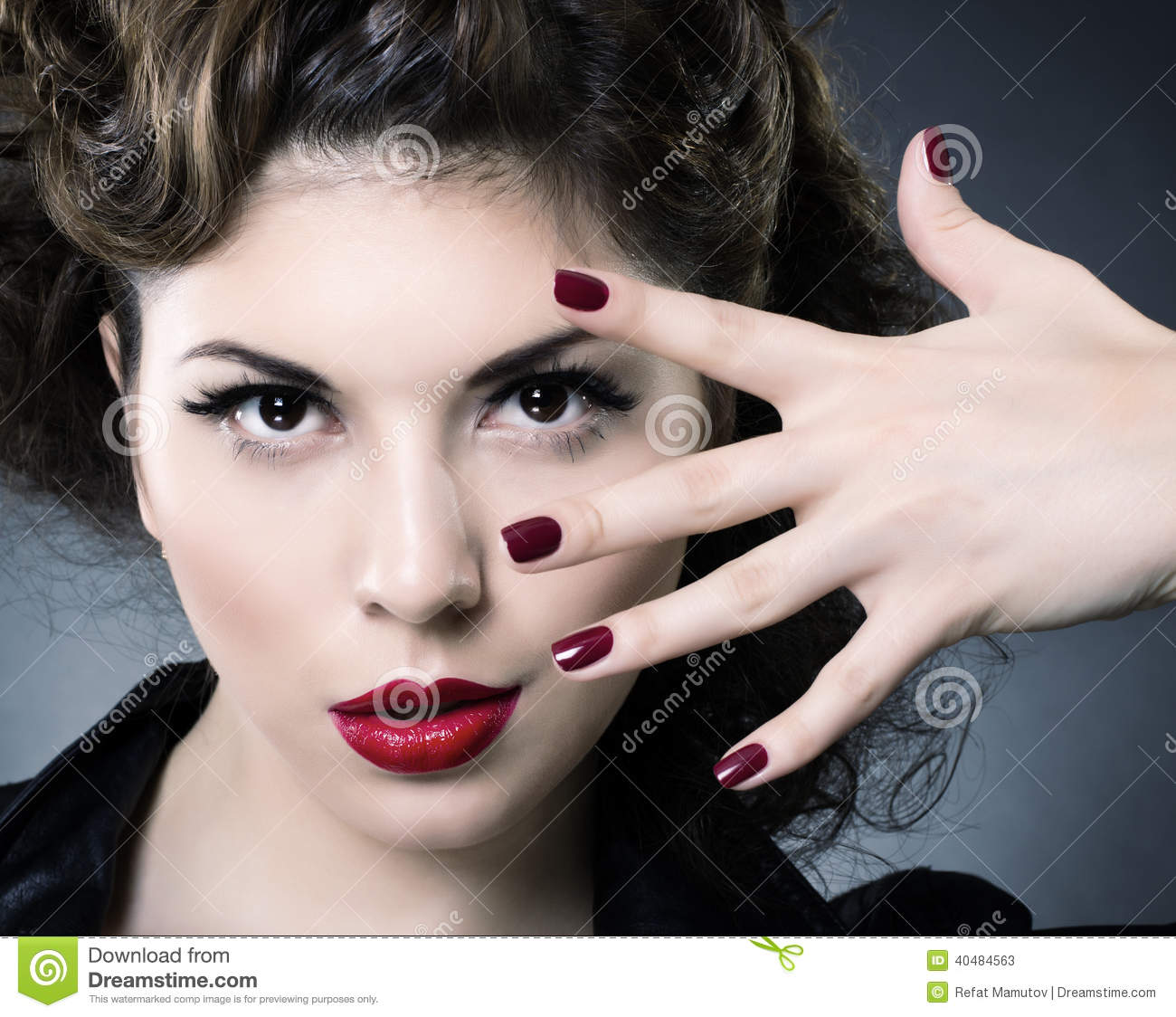 Fashion Beauty Model Girl Stock Image Image Of Manicured: Make Up Concept. Beauty Woman Face Stock Image