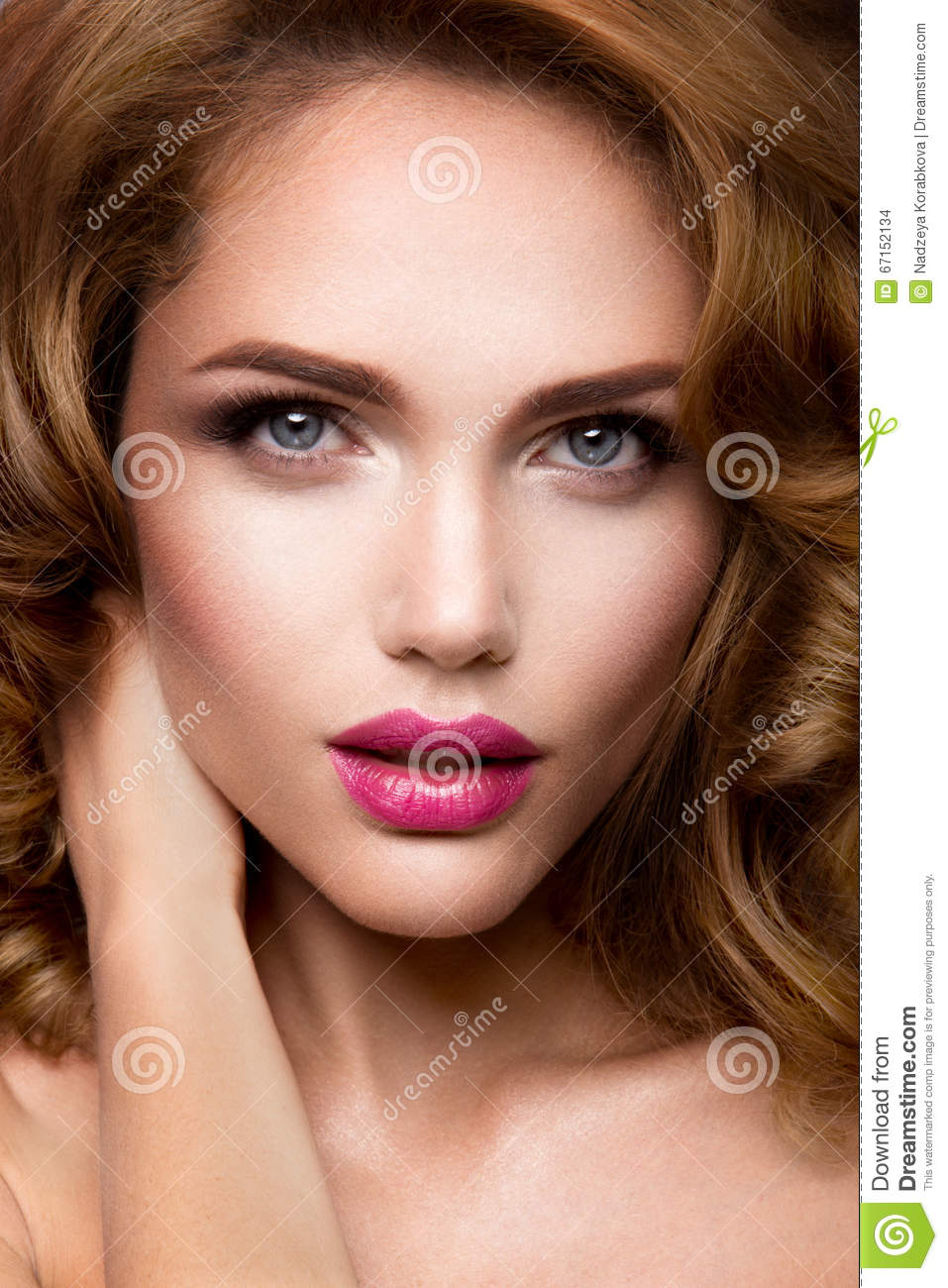 make up  glamour portrait of beautiful woman model with