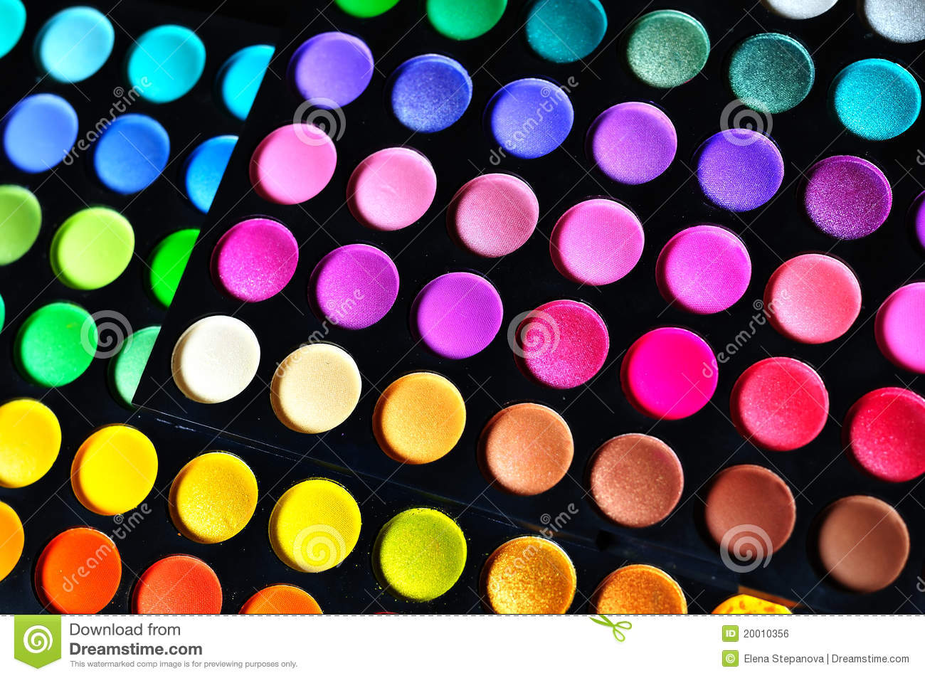 Make Up Palettes Stock Photo Image Of Blue Colorful