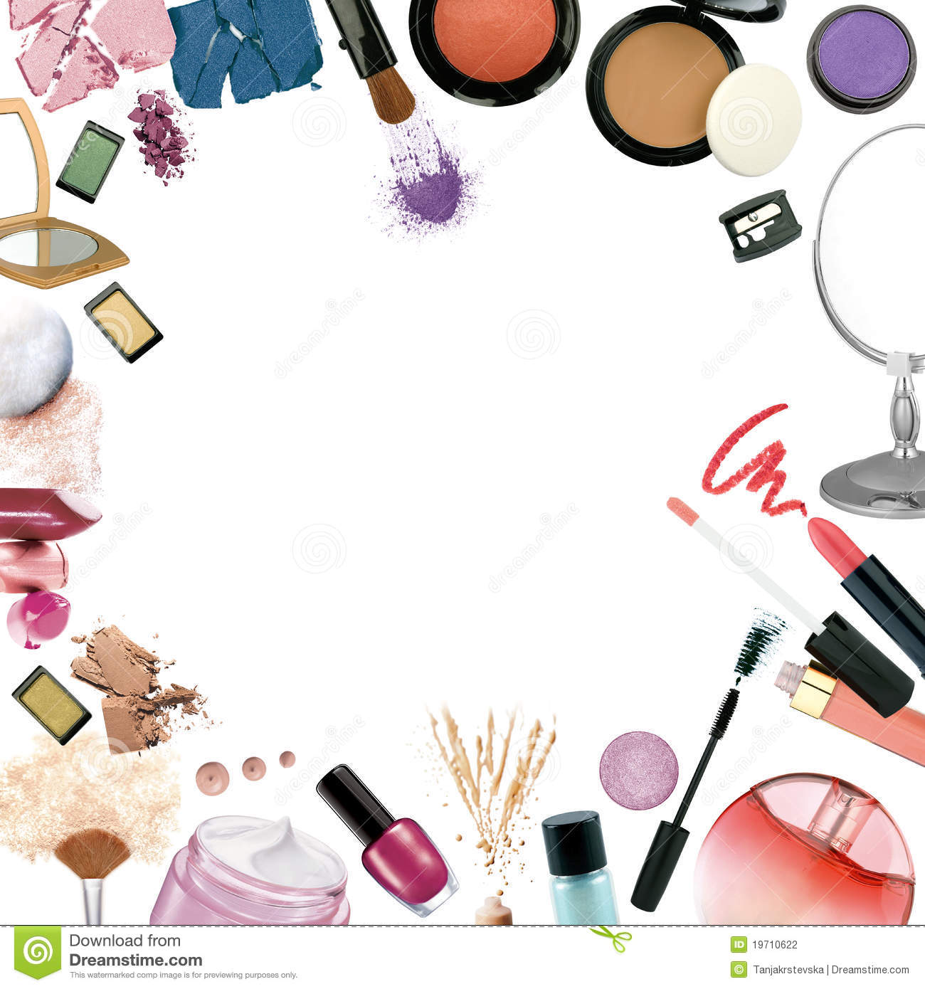 Wallpaper Border Pin Clipart Makeup 3 Make Up S Stock Photography