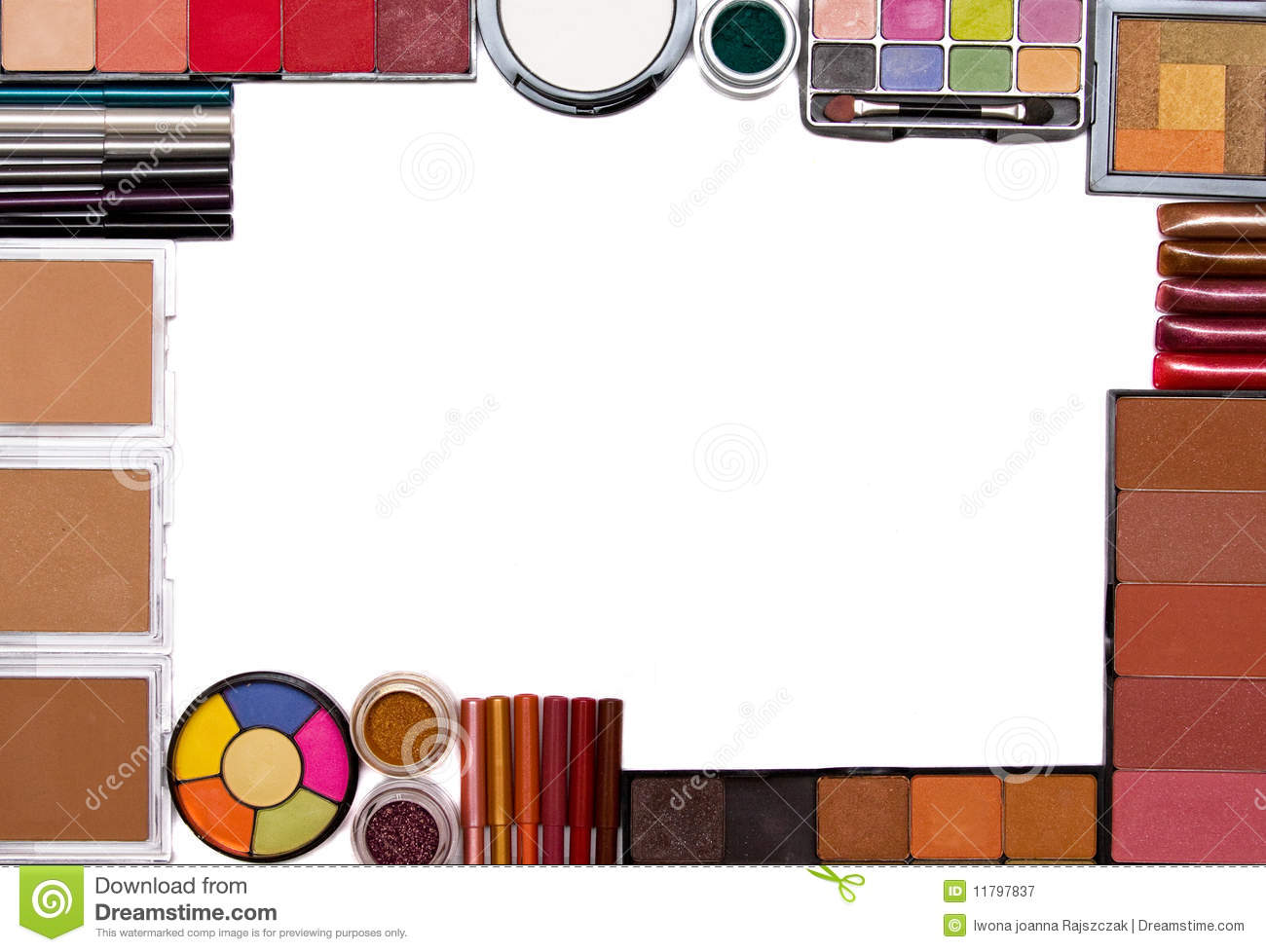 Make-up set frame stock image. Image of accessories, elegance - 11797837