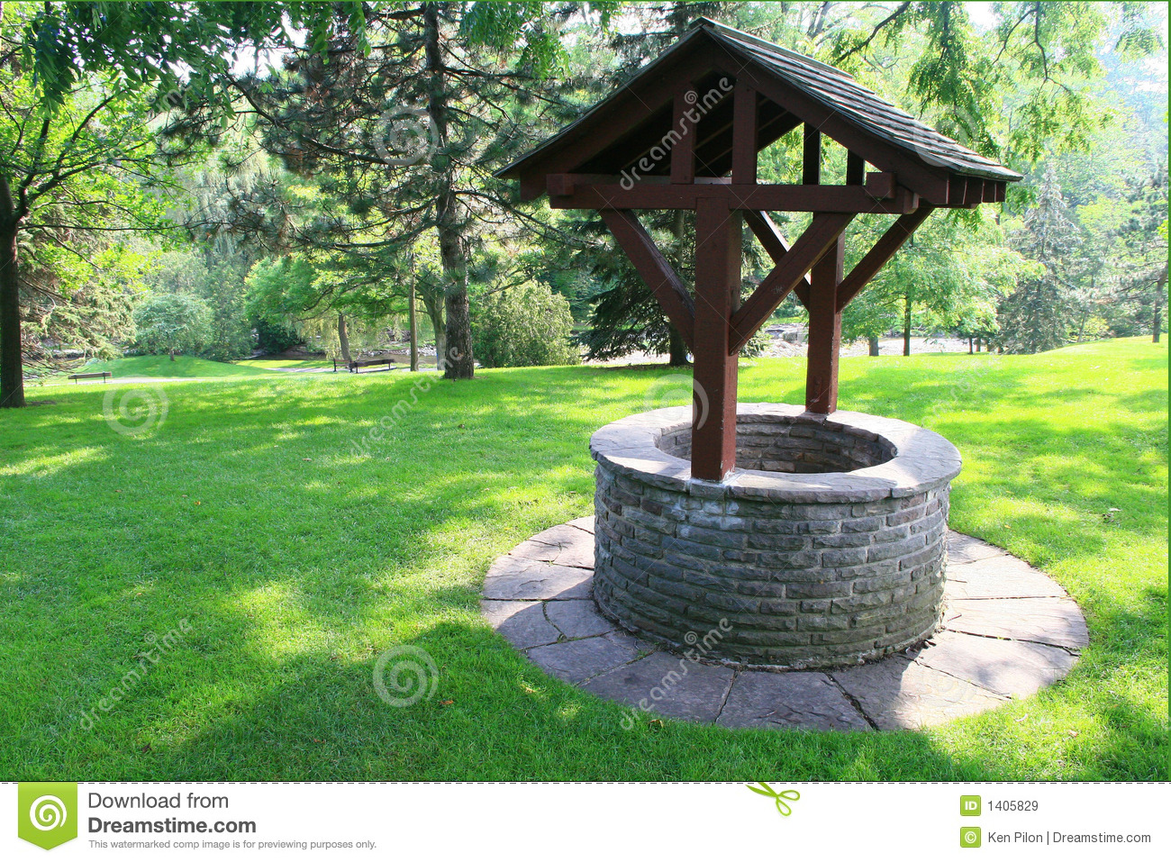 The Make a wish come true Wishing Well Stock Image