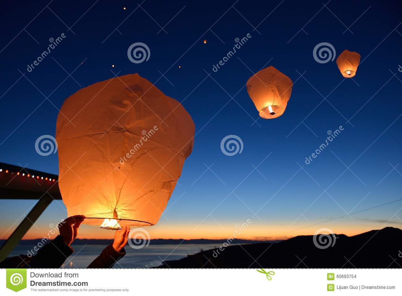 Make A Wish, Paper Floating Lanterns Release On Grouse ... - photo#35