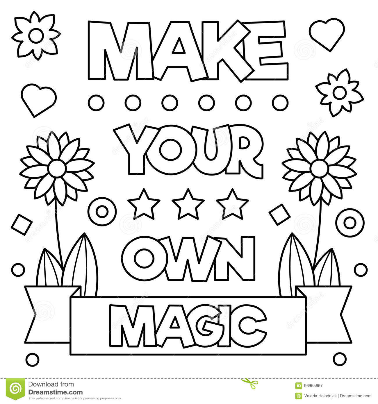 Make Your Own Magic Coloring Page Vector Illustration Stock - Make-your-own-coloring-page
