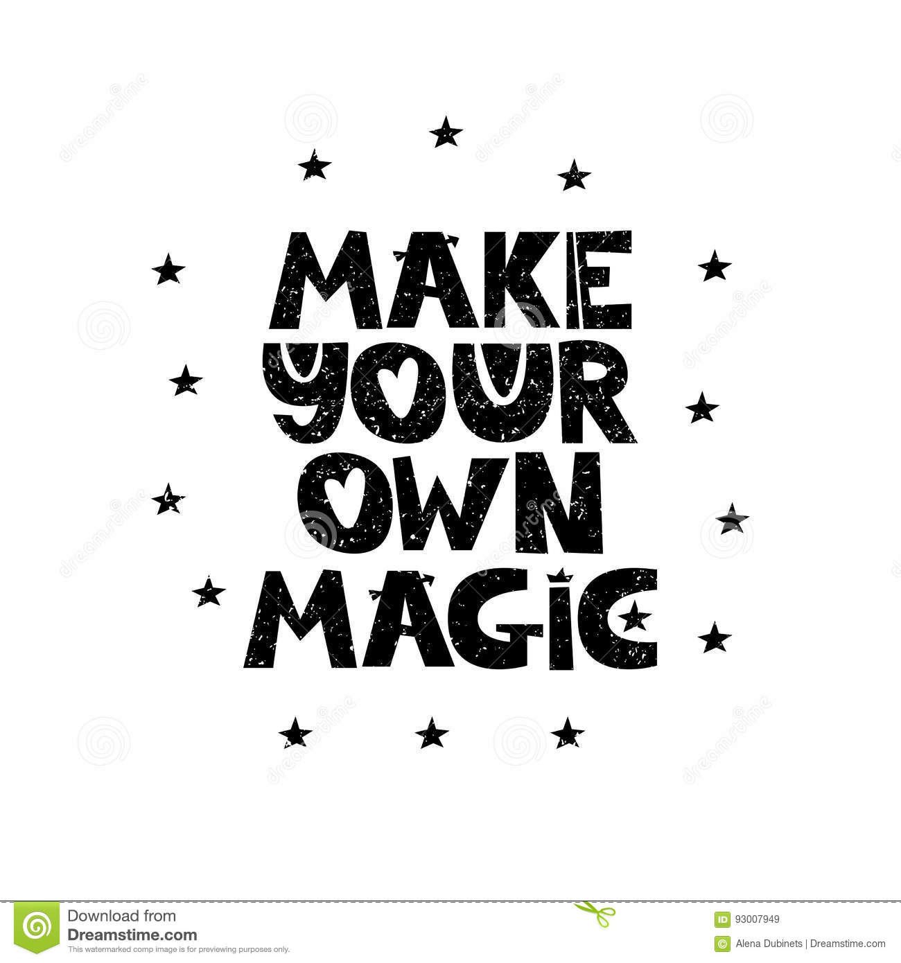 Make Your Own Magic Hand Drawn Style Typography Poster With