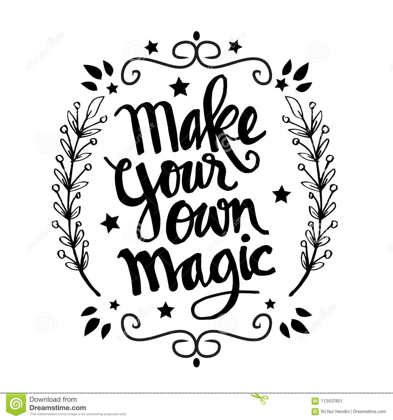 Make Your Own Quotes | Make Your Own Magic Quotes Stock Vector Illustration Of Letter