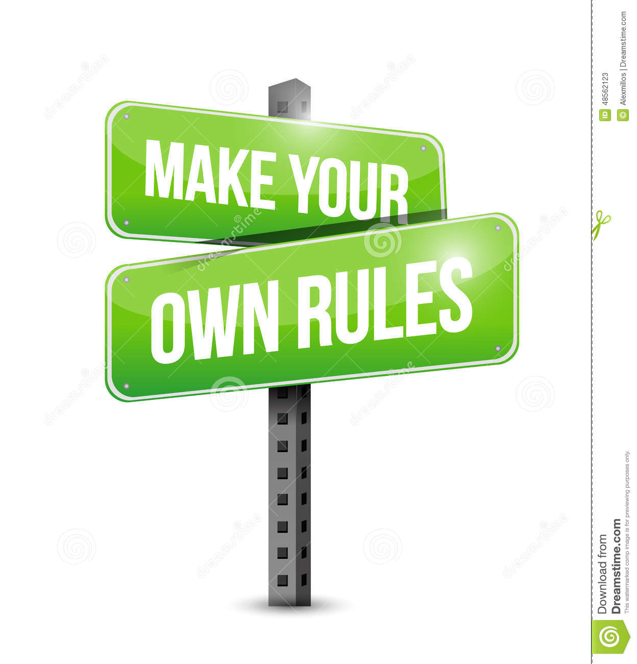 Make your own rules street sign stock illustration for Create your own