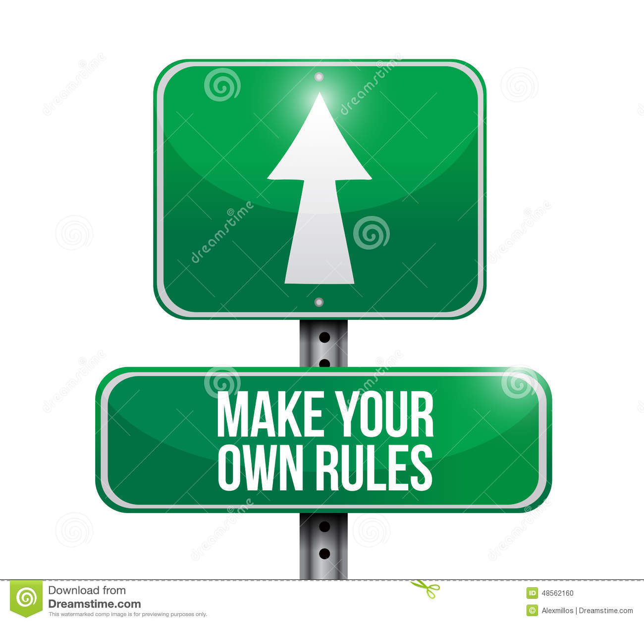 Custom Card Template make your own design : Make Your Own Rules Street Sign Stock Illustration - Image ...