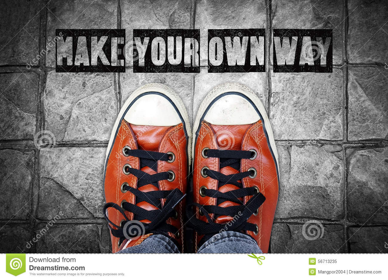 Make Your Own Quote Magnificent Make Your Own Way Inspiration Quote Stock Illustration  Image
