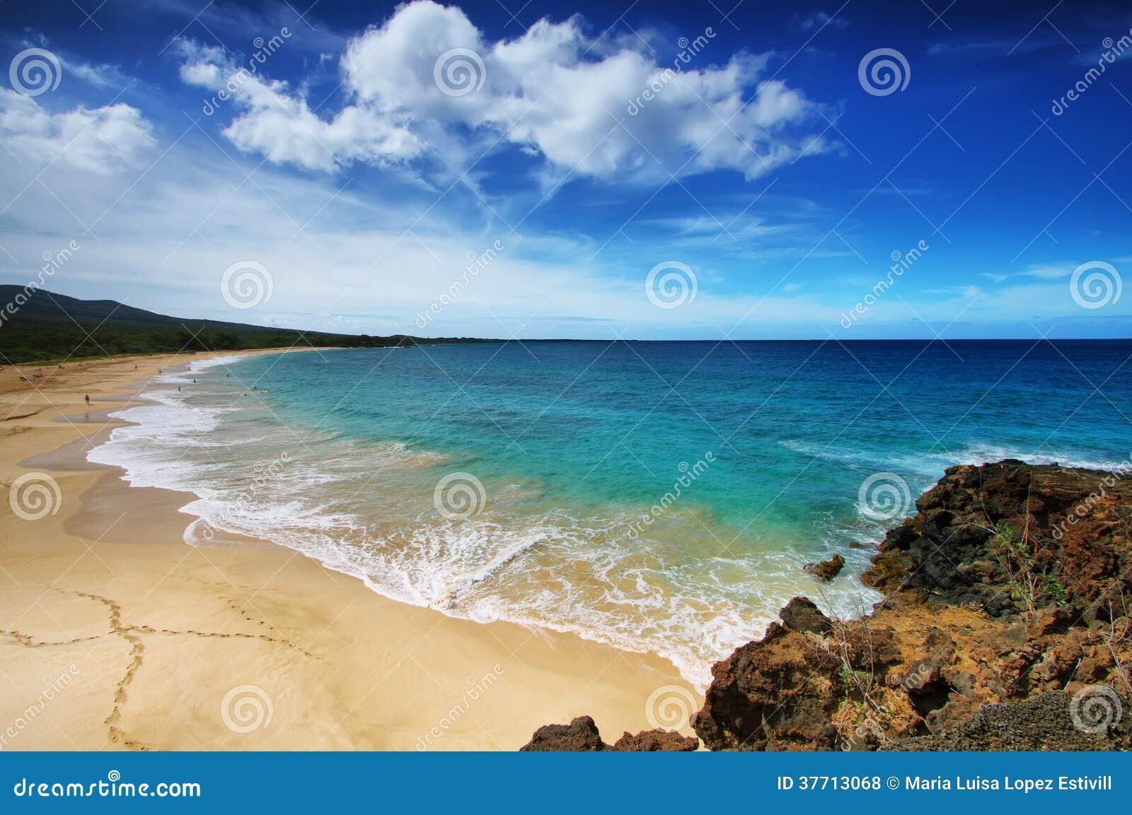 Makena Beach In Maui Hawaii Stock Photo Image Of Relax