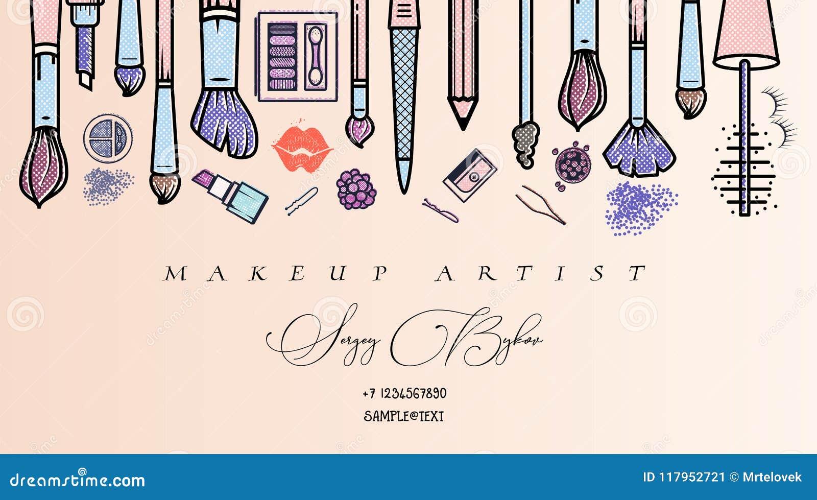 Makeup Artist Banner  Beauty Salon Fashion Trends Background
