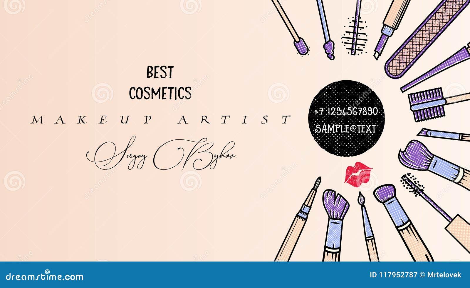 Makeup Artist Banner Beauty Salon Fashion Trends Background Business Concept Stock Vector Illustration Of Design Glamour 117952787