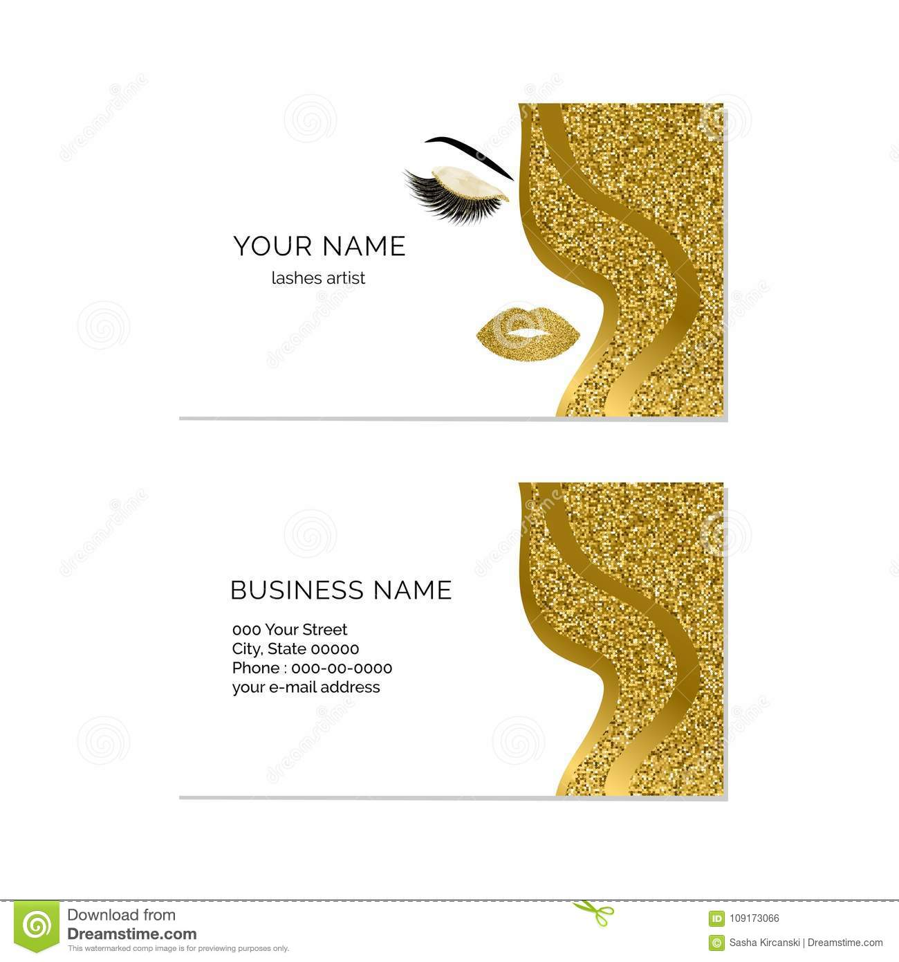 Makeup artist business card vector template stock vector royalty free vector download makeup artist business card reheart Gallery