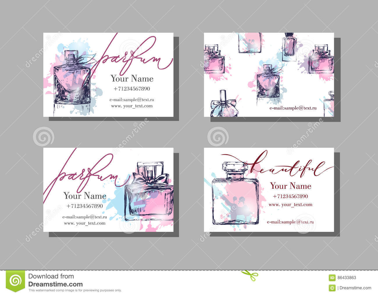 Makeup artist business card vector template with beautiful perfume makeup artist business card vector template with beautiful perfume bottle fashion and beauty background flashek Image collections
