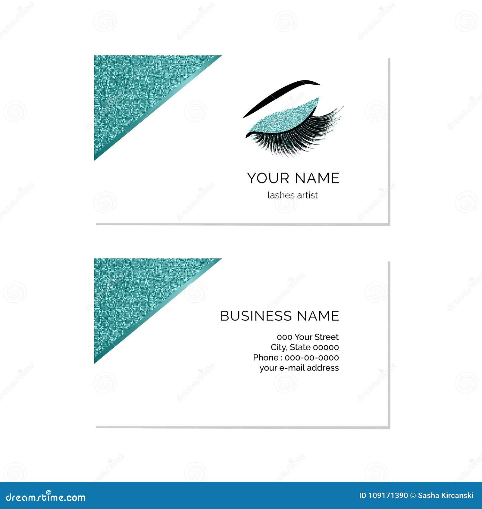 Makeup artist business card vector template stock vector download makeup artist business card vector template stock vector illustration of logo beautiful wajeb Choice Image