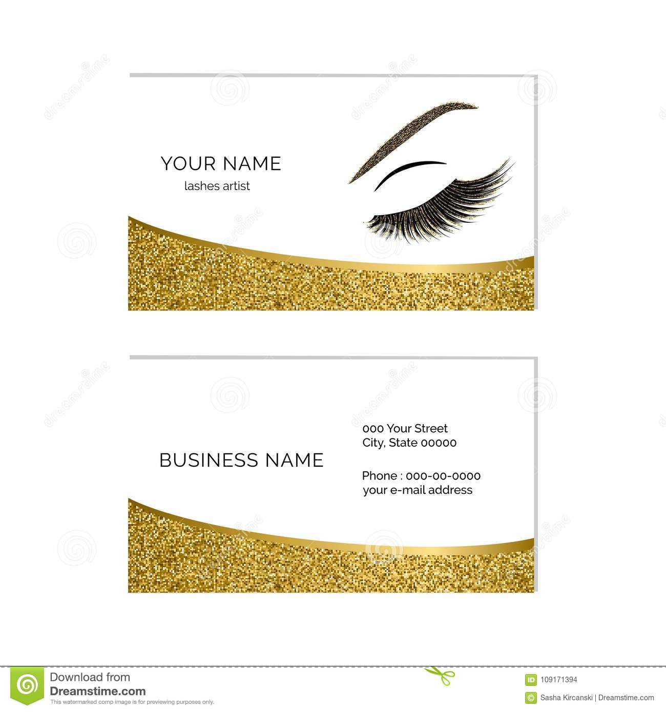 Makeup artist business card vector template stock vector makeup artist business card vector template wajeb Image collections