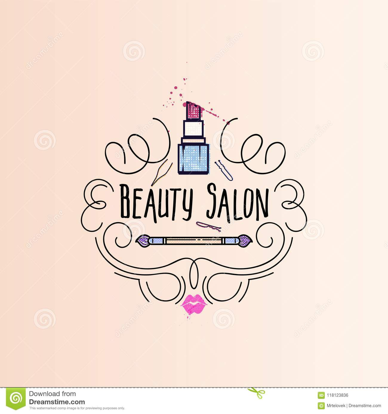 Makeup Artist Banner New Collection Background Business Concept For Your Design