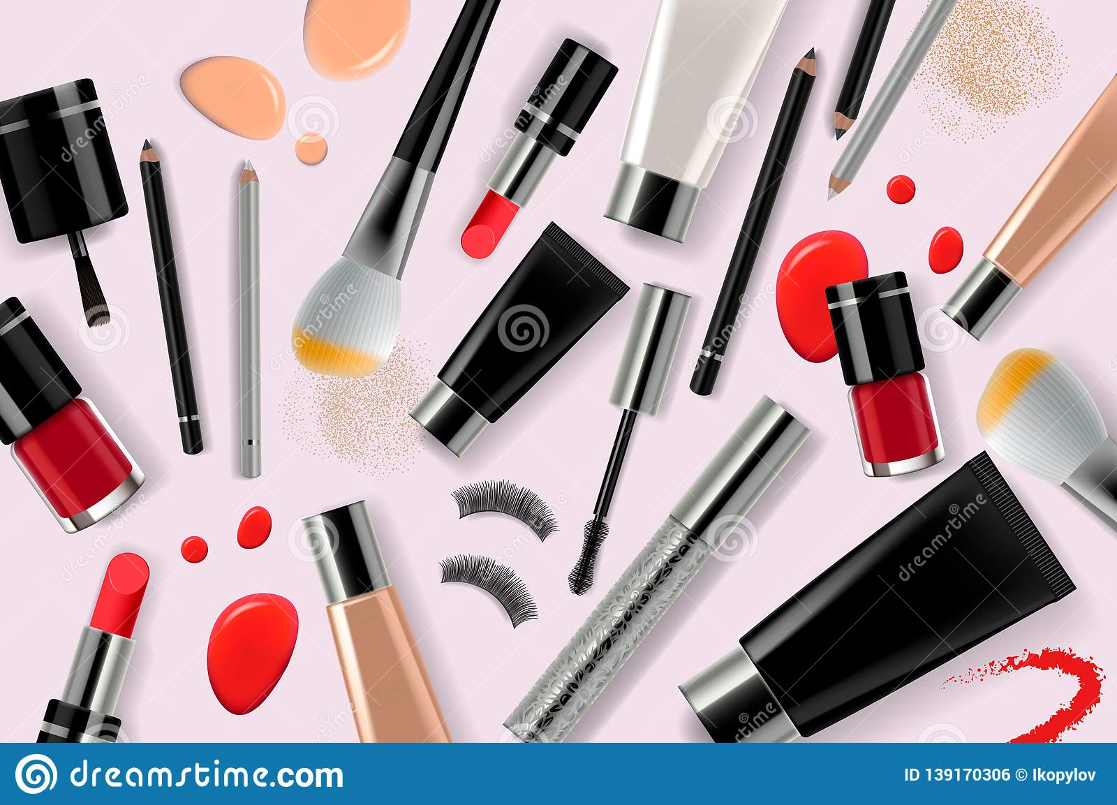 Makeup Banner Template For Online Beauty Store  Poster
