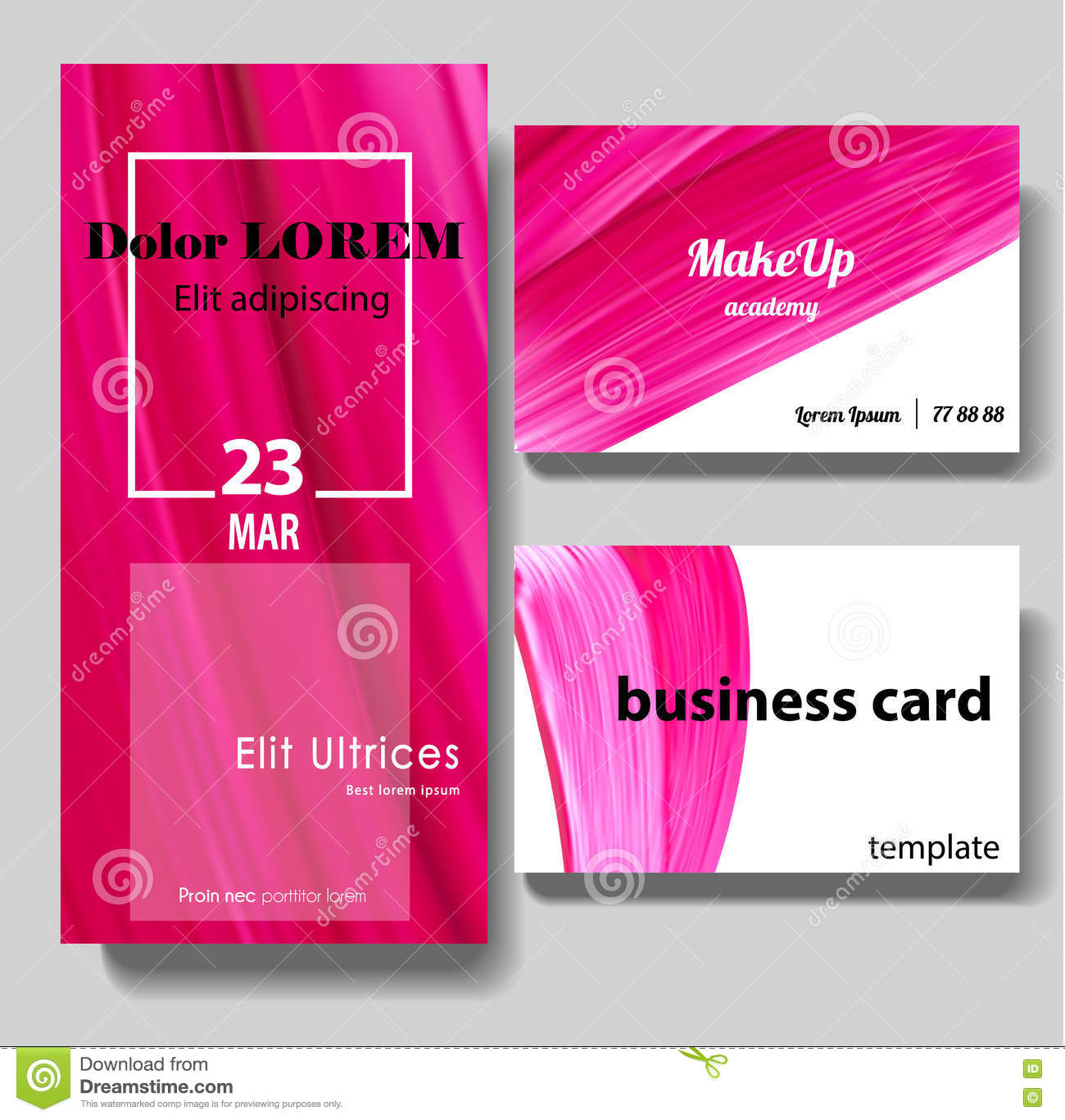 Makeup Beauty Or Cosmetic Vector Business Card Stock Vector ...