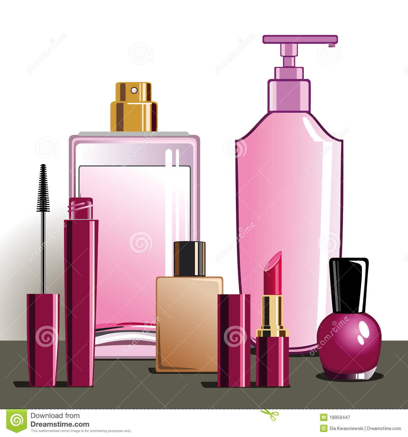Makeup and beauty products royalty free stock photography for Salon equipment and supplies