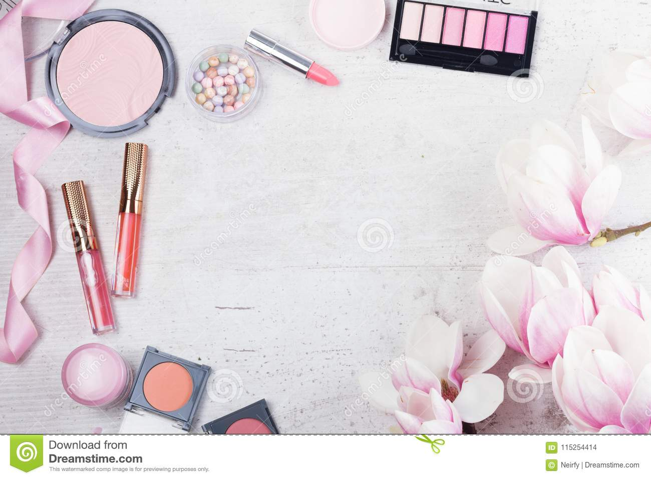 Makeup Beauty Products Stock Photo Image Of Design 115254414