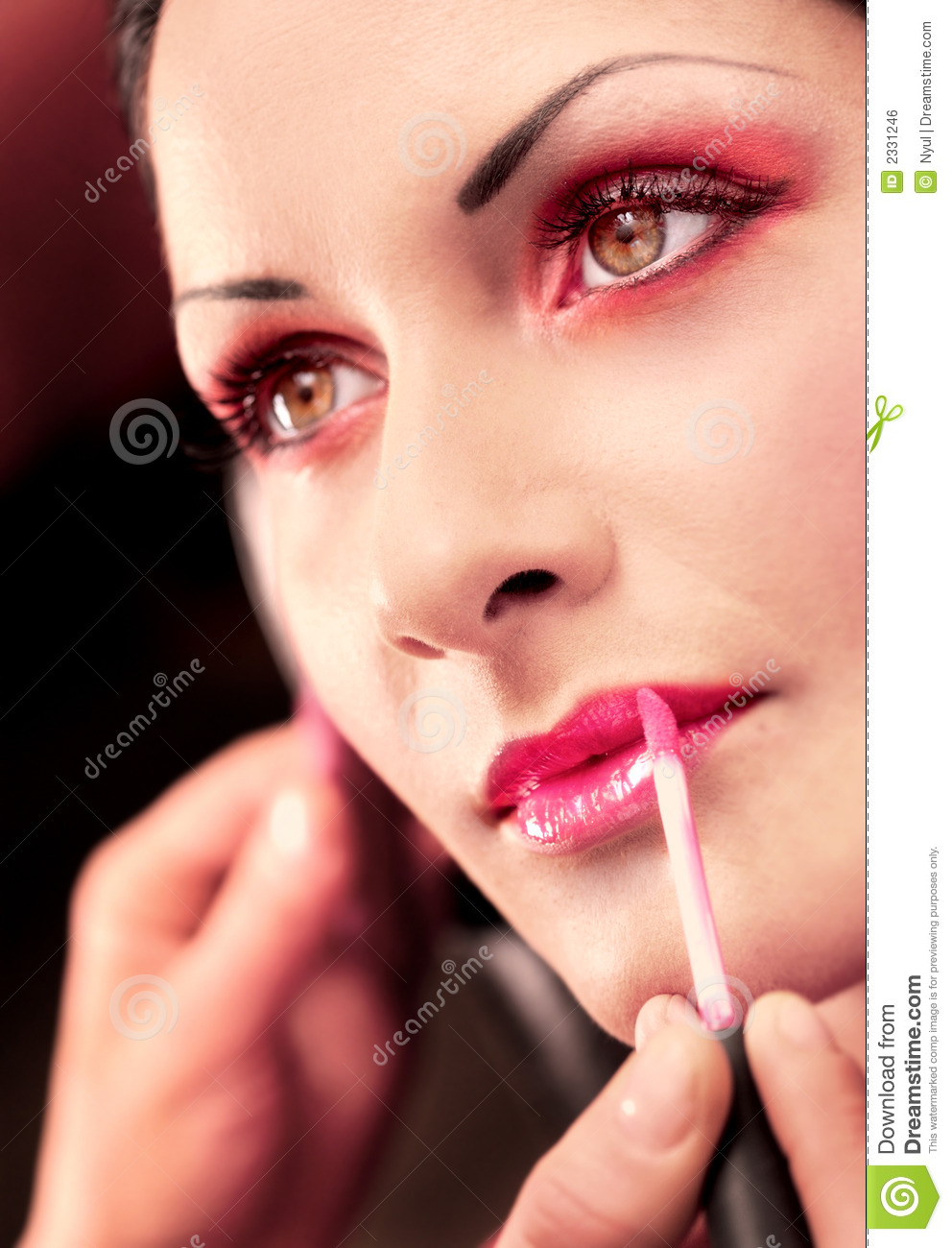 Makeup And Beauty Treatment Stock Photo