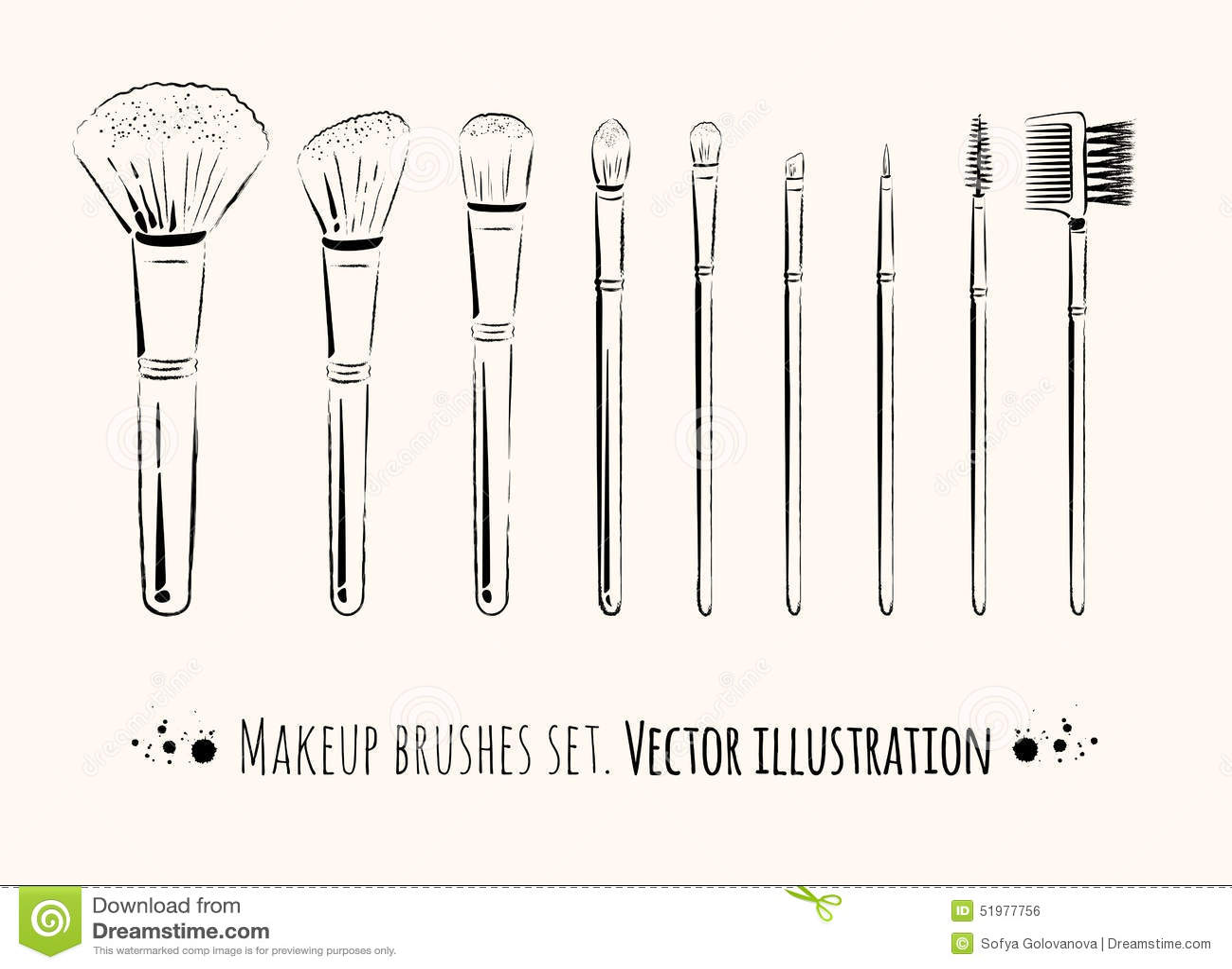 Makeup borstar satsen