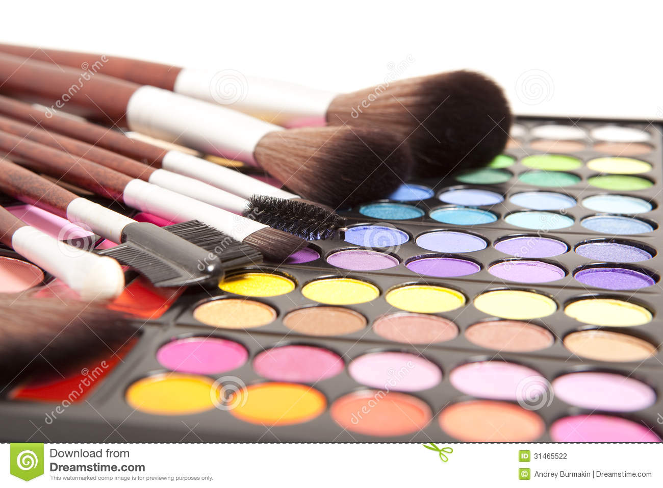 Makeup Brushes Stock Photo Image Of Colorful Shadow