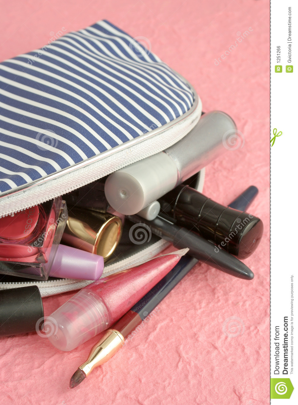 Makeup Case Stock Photo Image Of Creams Brushes Coloring 1251266