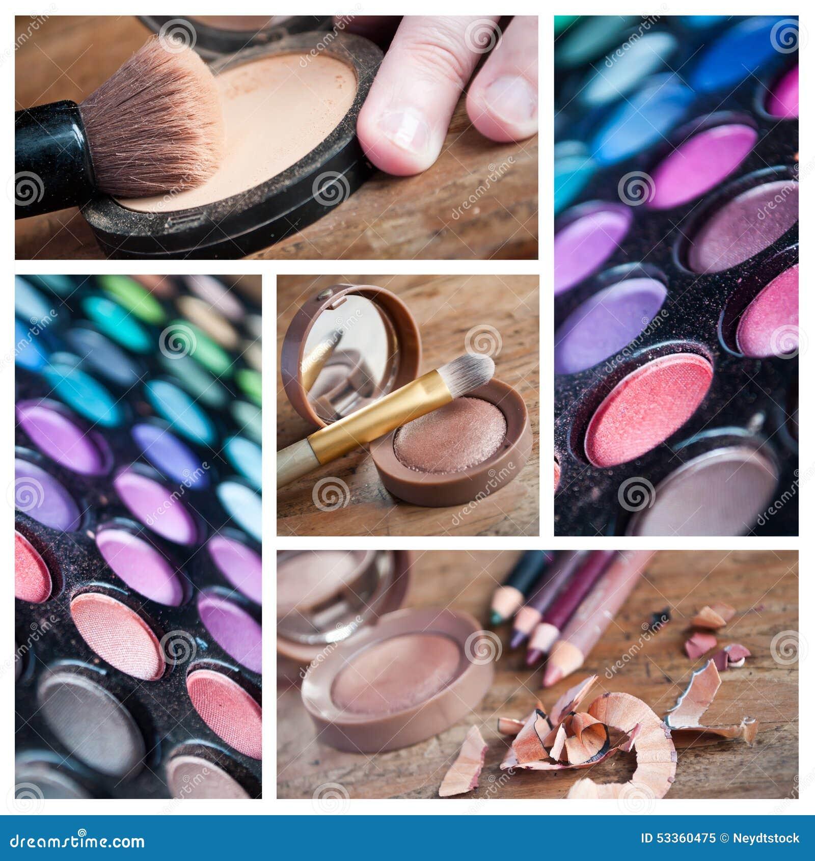 makeup closeup collage stock photo image 53360475