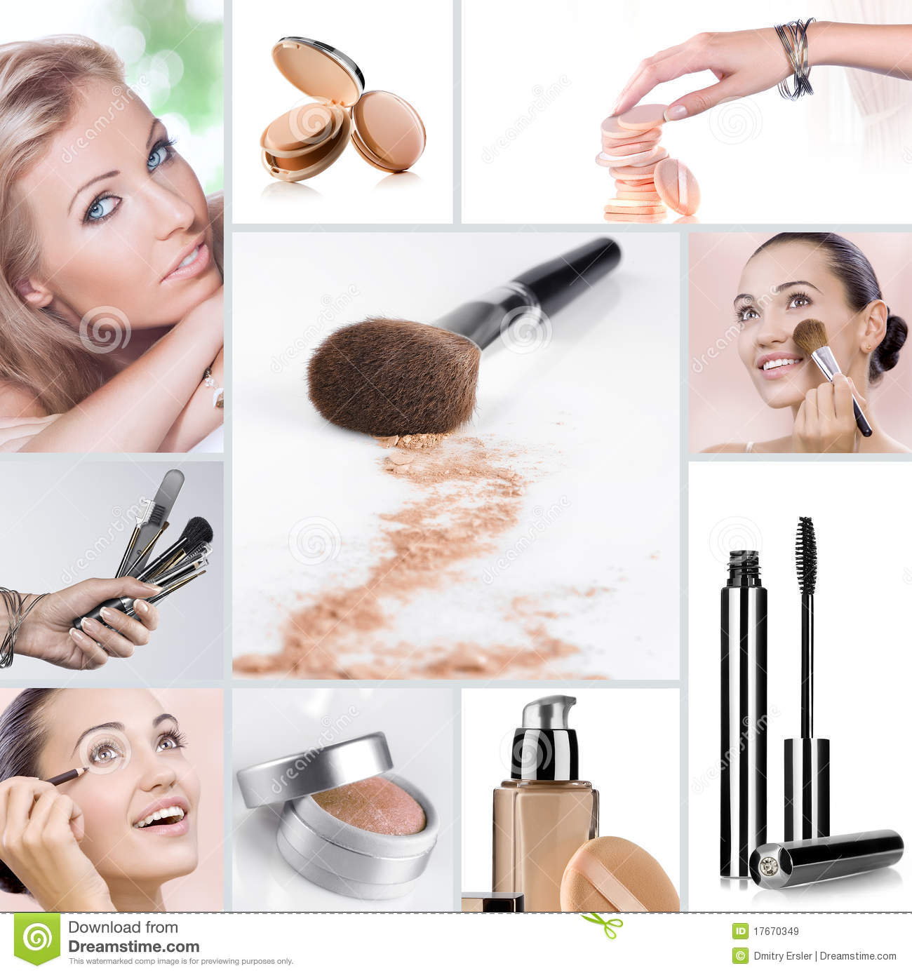makeup collage royalty free stock images image 17670349
