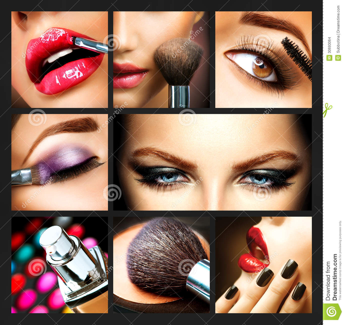 Makeup collage backgrounds