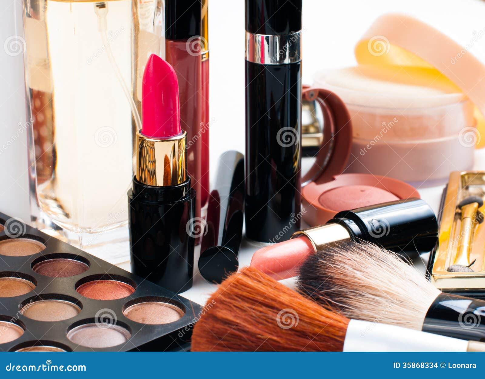 Makeup And Cosmetics Set Stock Images Image 35868334