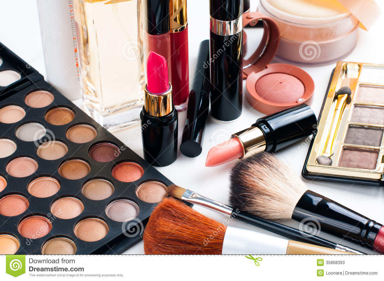 House Plan Design Makeup And Cosmetics Set Stock Photos Image 35868393
