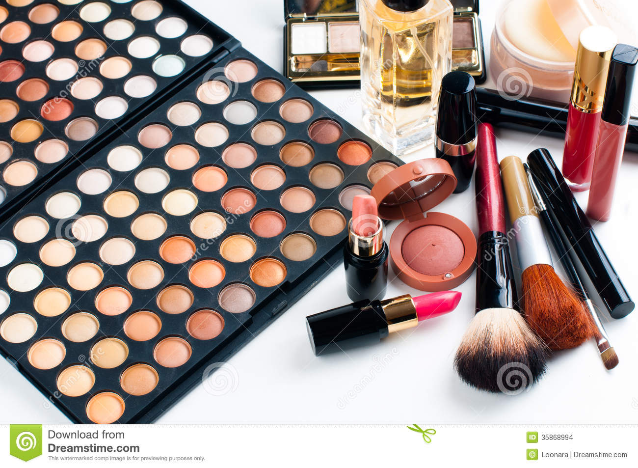 Makeup and cosmetics set stock images image 35868994 for What is cosmetics made of