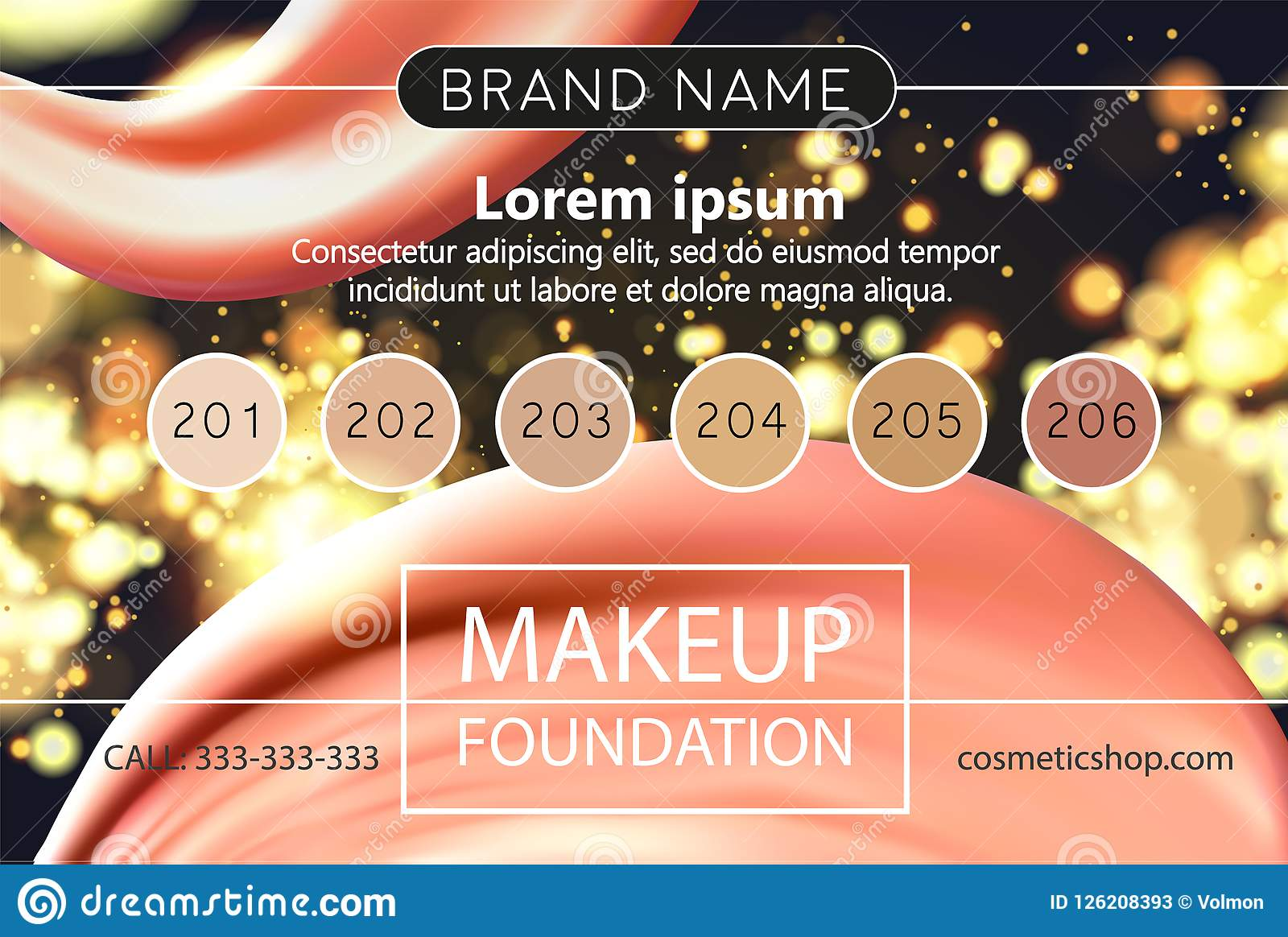 Makeup Design Template For Cosmetic Flyer Makeup Artist Studio Or