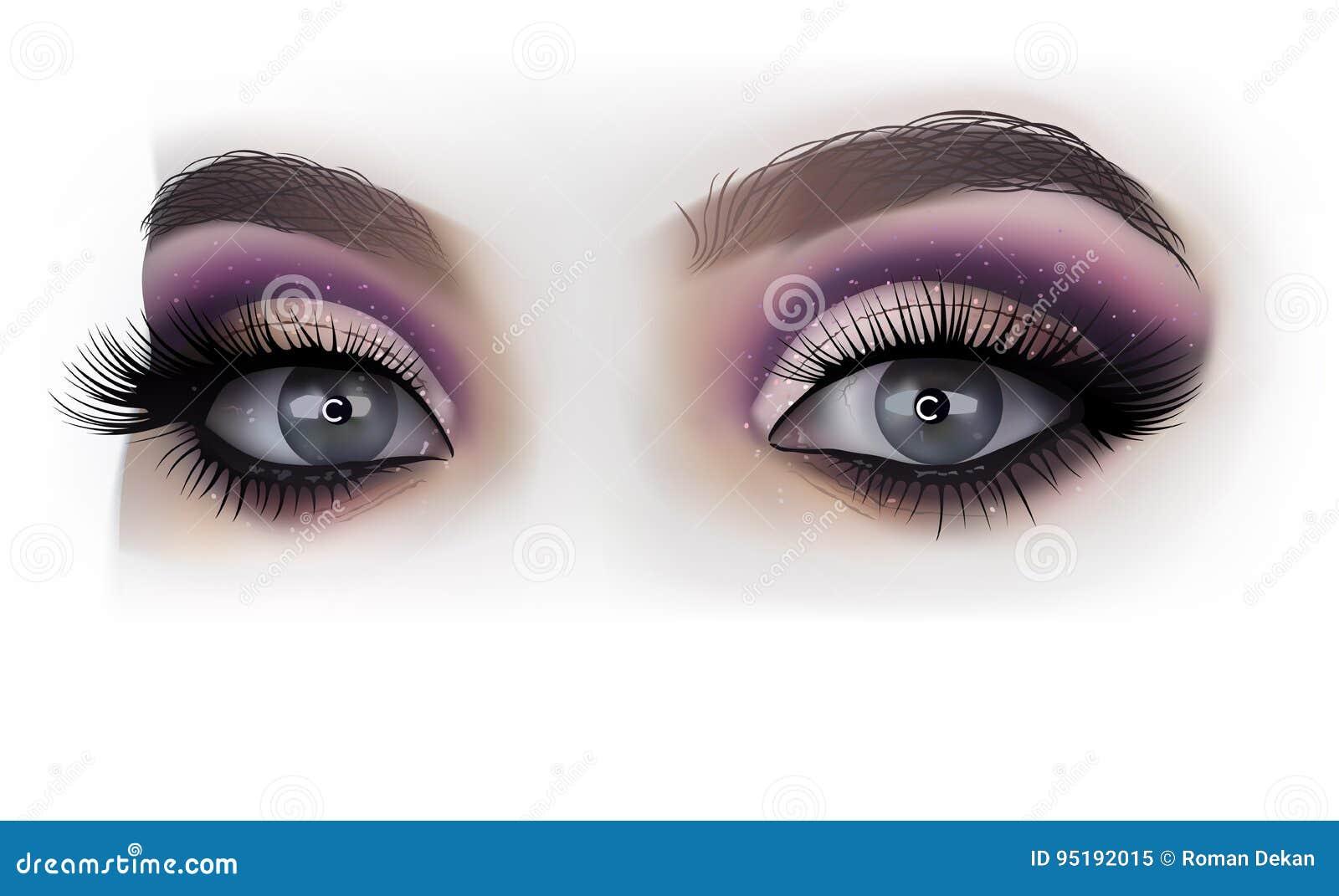 Makeup för kvinnaögonmode