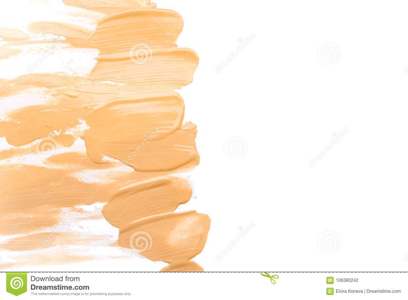 Makeup Foundation Blur Cream Isolated Background Top View Collage Corrective Base Make Up Tonal
