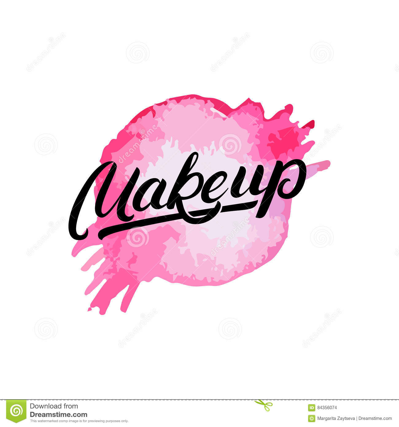 Makeup Hand Written Lettering Logo Label Emblem With